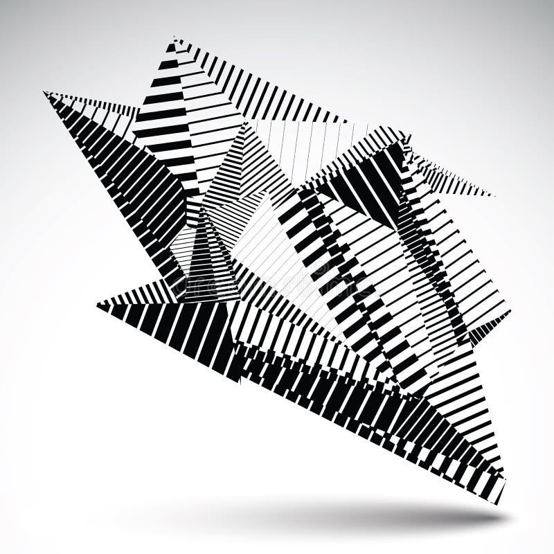 Invecklat diagram för kontrast som eps8 konstrueras från trianglar med royaltyfri illustrationer