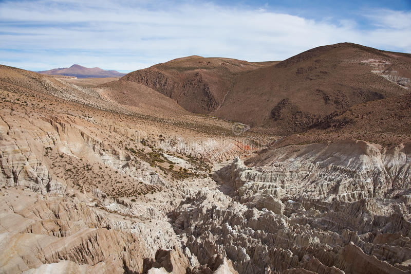 Invecklat vagga bildande på den chilenska Altiplanoen arkivfoto