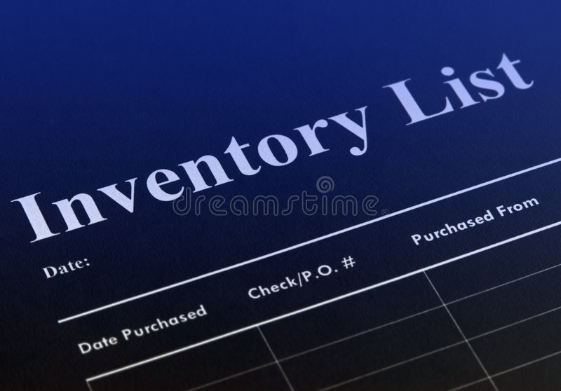 Inventário fotos de stock
