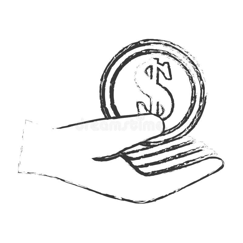 Inventa o ícone isolado dinheiro ilustração royalty free