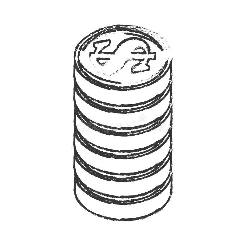 Inventa o ícone isolado dinheiro ilustração stock
