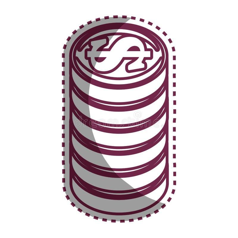 Inventa o ícone isolado dinheiro ilustração do vetor