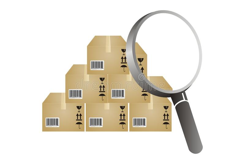 Inventaris het analyseren stock illustratie