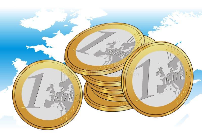 invente l'euro carte de l'Europe illustration de vecteur