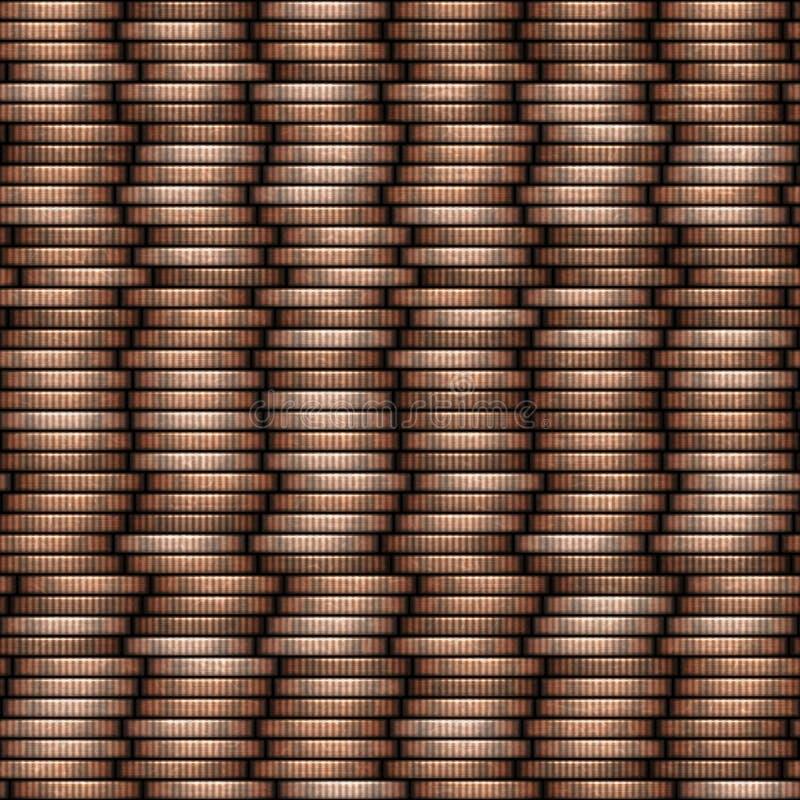 Invente a textura sem emenda da pilha - moedas nas colunas ilustração royalty free