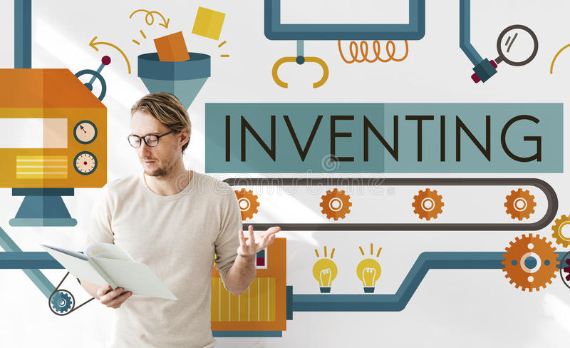 Inventing Innovation Create Creative Process Concept stock illustration