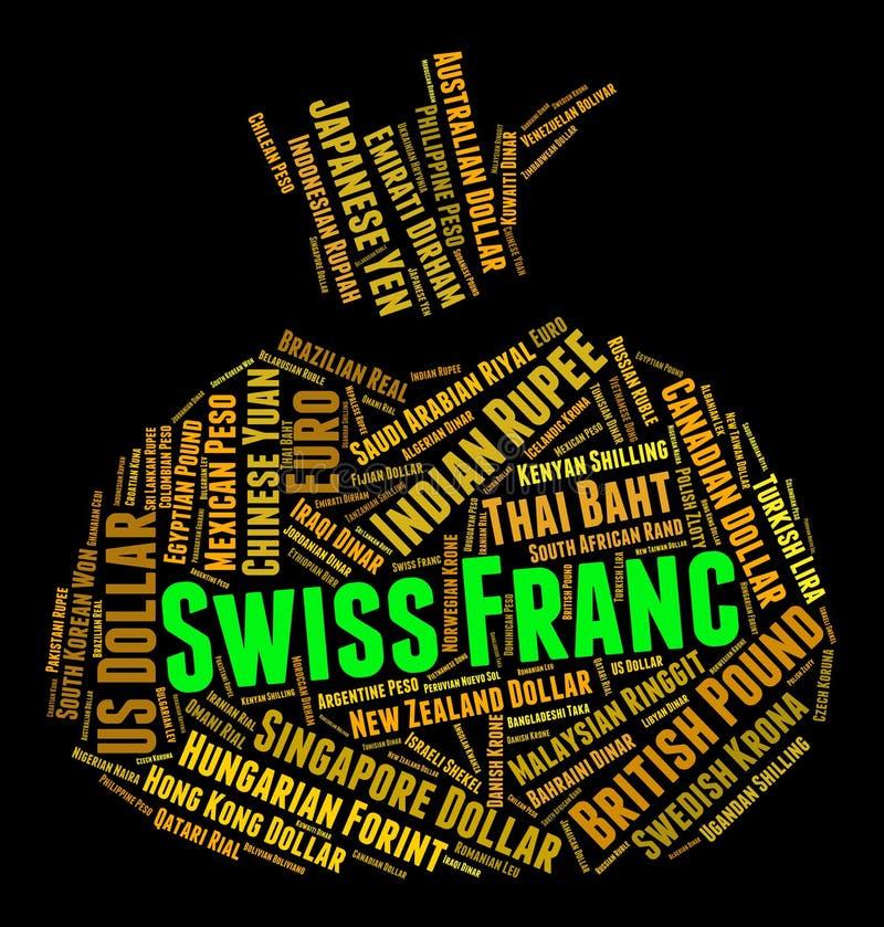 Invention de Franc Means Worldwide Trading And de Suisse illustration libre de droits