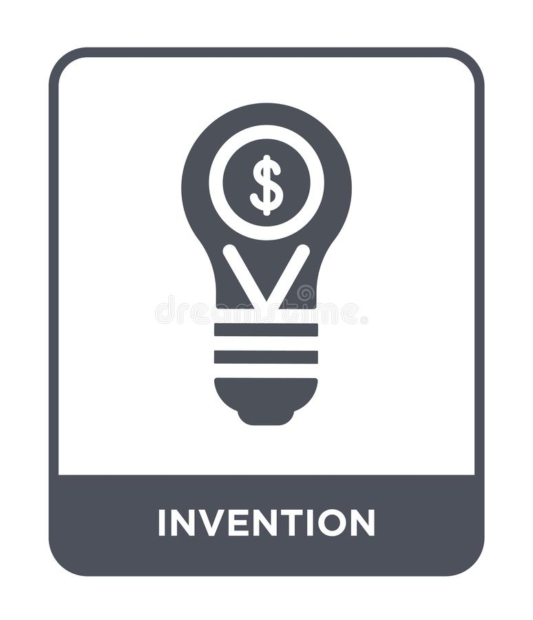 invention icon in trendy design style. invention icon isolated on white background. invention vector icon simple and modern flat vector illustration