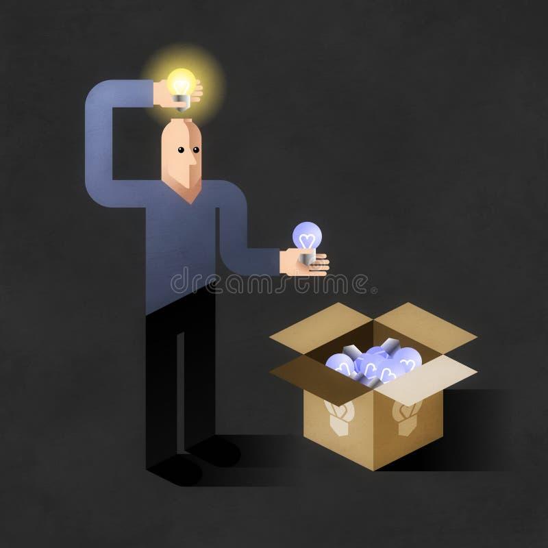 Inventor da ideia ilustração do vetor