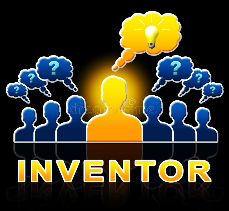 Inventor People Means Innovating Invents 3d Illustration. Inventor People Means Innovating Invents And Innovation 3d Illustration stock illustration