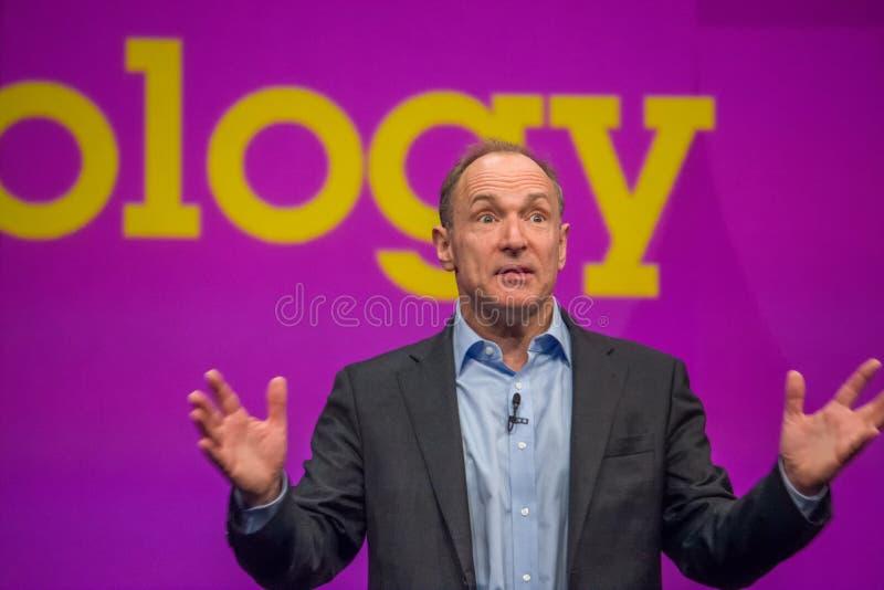 Inventor y fundador del World Wide Web Sir Tim Berners-Lee imagen de archivo