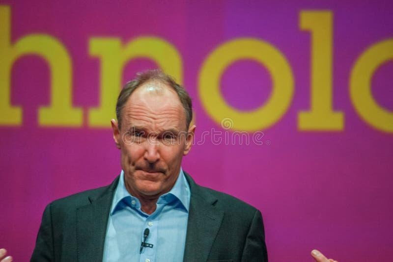 Inventor y fundador del World Wide Web Sir Tim Berners-Lee imágenes de archivo libres de regalías