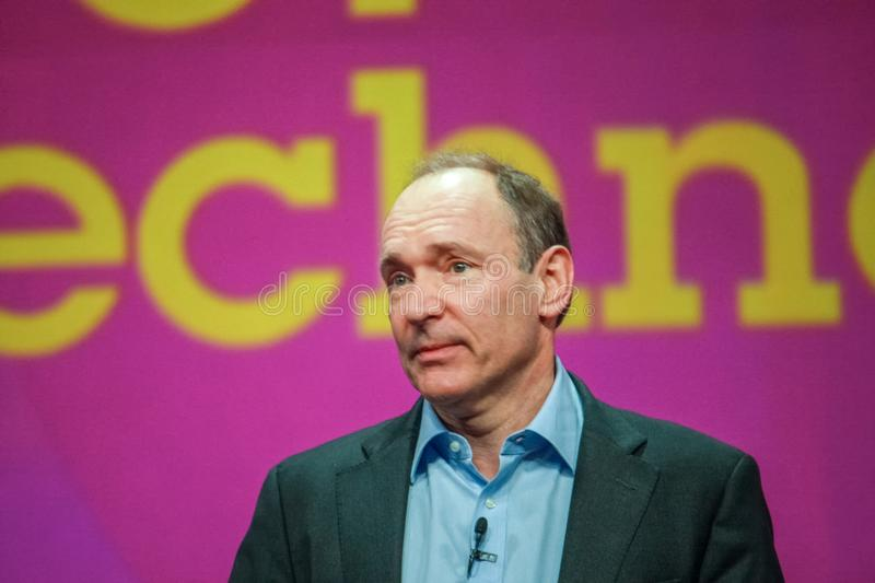 Inventore e fondatore del World Wide Web Sir Tim Berners-Lee fotografia stock libera da diritti