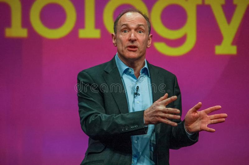 Inventore e fondatore del World Wide Web Sir Tim Berners-Lee fotografie stock