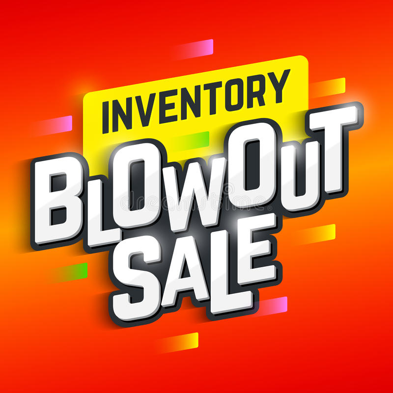Inventory Blowout Sale poster vector illustration
