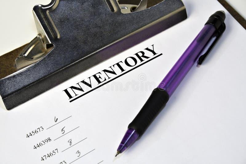 Inventory Clipboard stock photos