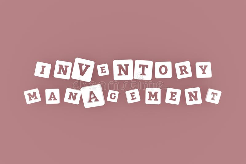 Inventory Management, business keyword. For web page, graphic design, texture or background. Inventory Management, business keyword. Graphic resource, texture or royalty free illustration