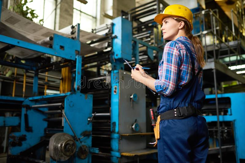 Inventory at Manufacturing Plant stock photo