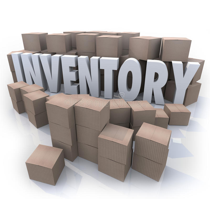 Download Inventory Word Stockpile Cardboard Boxes Surplus Stock Illustration - Image: 27002940