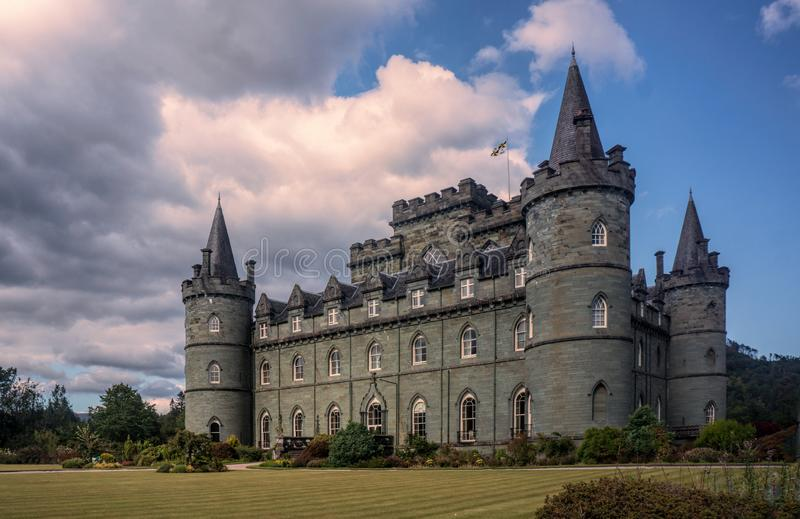 Inveraray Castle near Inveraray in the county of Argyll, in western Scotland. Inveraray Castle is a country house near Inveraray in the county of Argyll, in royalty free stock photography