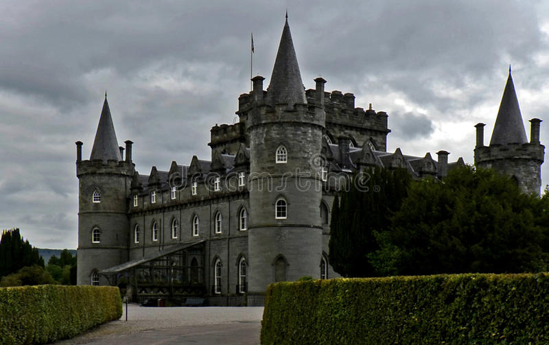 Inveraray Castle, Scotland, United Kingdom. The ancient Royal Burgh of Inveraray is located 60 miles north west of Glasgow by Loch Fyne in an area of spectacular stock photos
