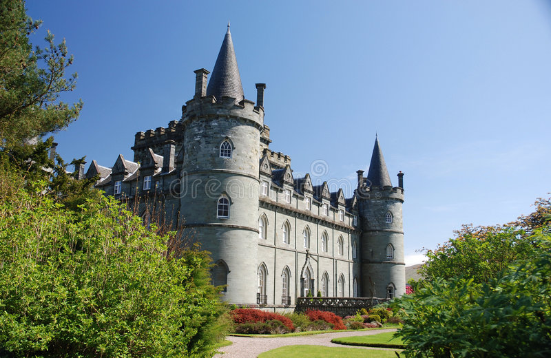 Inveraray Schloss lizenzfreie stockbilder