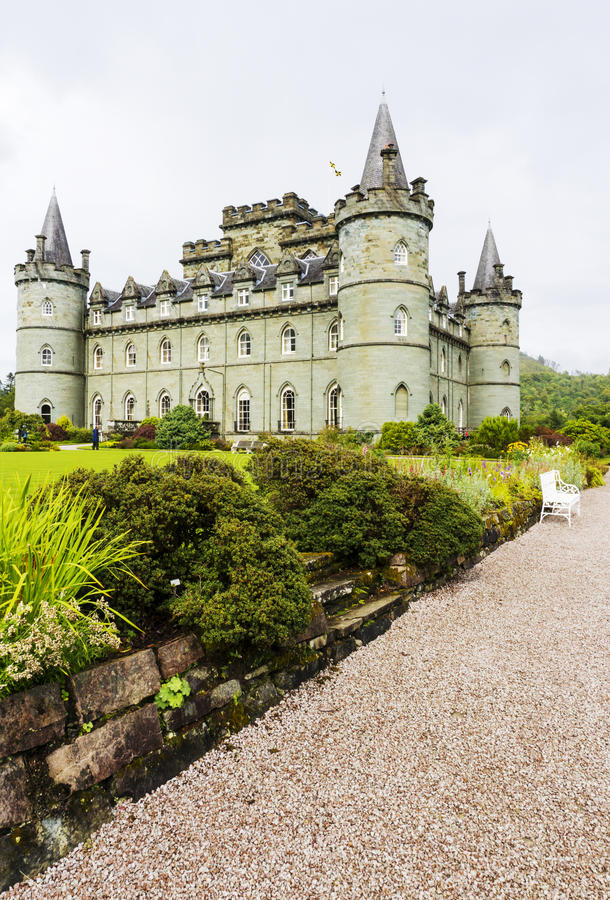 Inveraraykasteel achtentwintigste Augustus 2015, Inveraray, Argyle, Schotland stock afbeeldingen