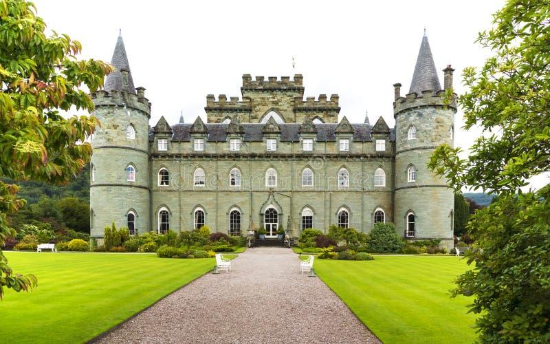 Inveraraykasteel, Inveraray, Argyle, Schotland 28 Augustus 2015 stock fotografie