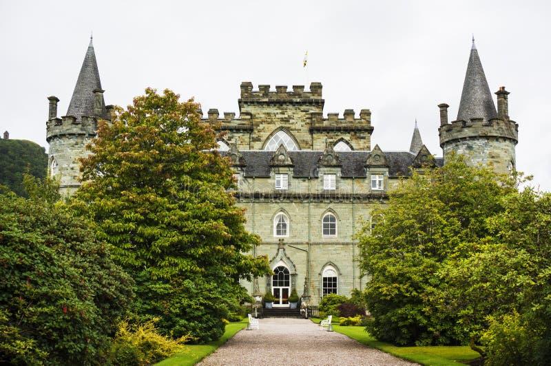 Inveraraykasteel, Inveraray, Argyle, Schotland 28 Augustus 2015 royalty-vrije stock afbeeldingen