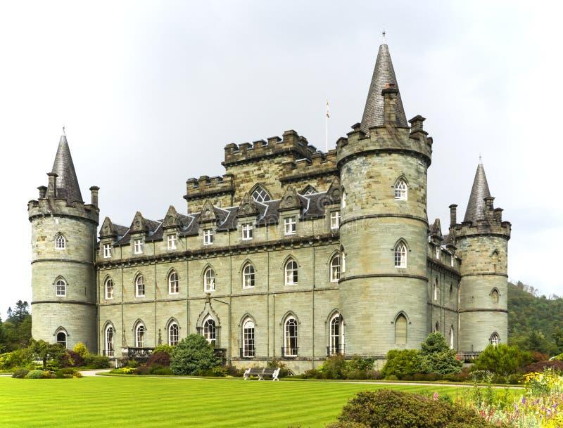 Inveraraykasteel, Inveraray, Argyle, Schotland 28 Augustus 2015 royalty-vrije stock foto