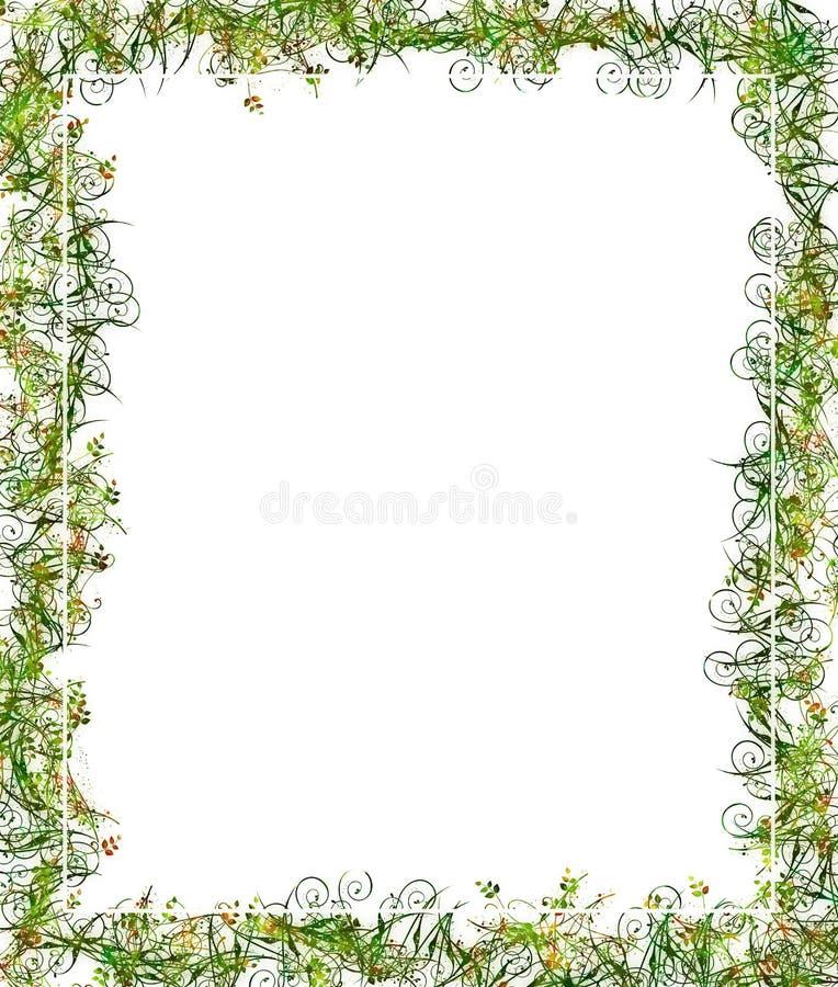 Inverdica il blocco per grafici o il bordo floreale illustrazione vettoriale