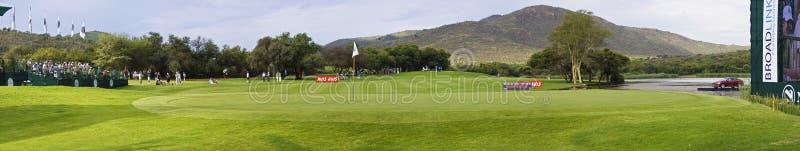 Inverdica Sul Diciassettesimo Foro - Terreno Da Golf Del Giocatore Di Gary Fotografia Stock Editoriale