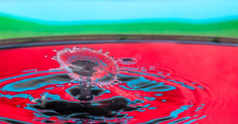 Inverkan f?r vattendroppf?rgst?nk royaltyfri foto
