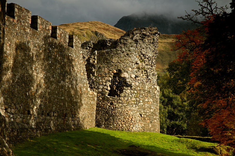 Inverlochy城堡 图库摄影