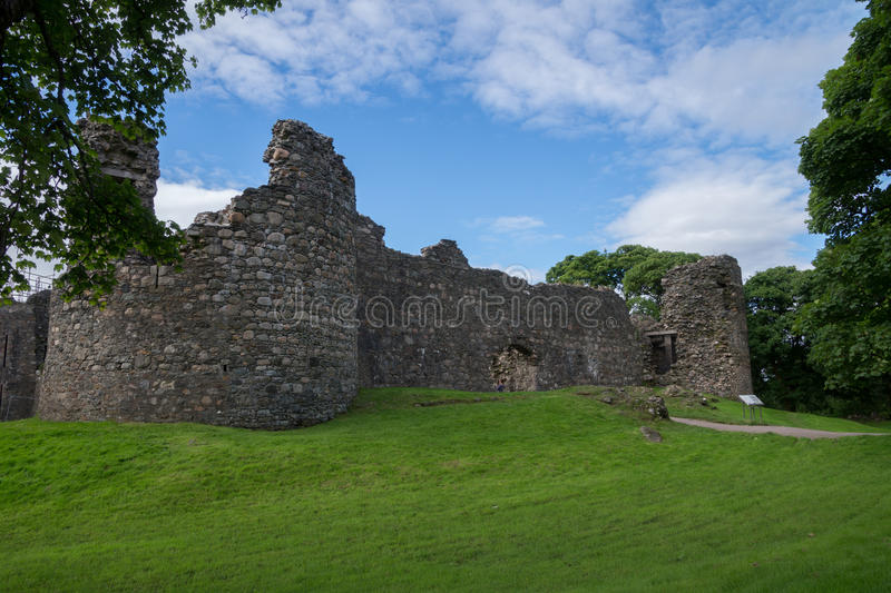Inverlochy Castle, Fort William, Scotland. The ruin of the old Inverlochy Castle, Fort William, Scotland stock image