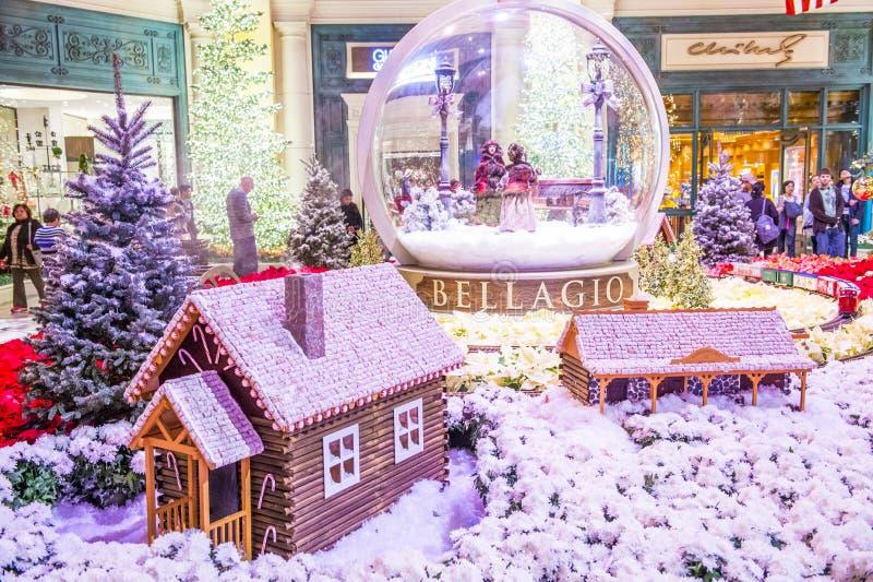 Invernadero del hotel de Bellagio y jardines botánicos imagen de archivo
