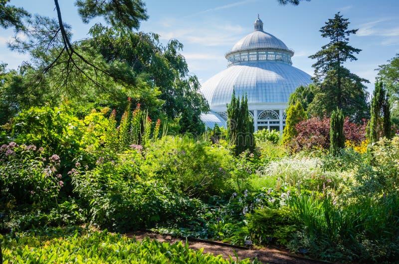 Invernadero - jardín botánico de Nueva York - New York City foto de archivo