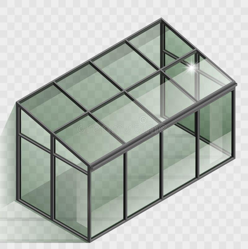 Invernadero o invernadero ilustración del vector