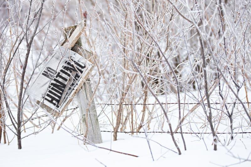 Invernal nenhum sinal da caça fotos de stock royalty free