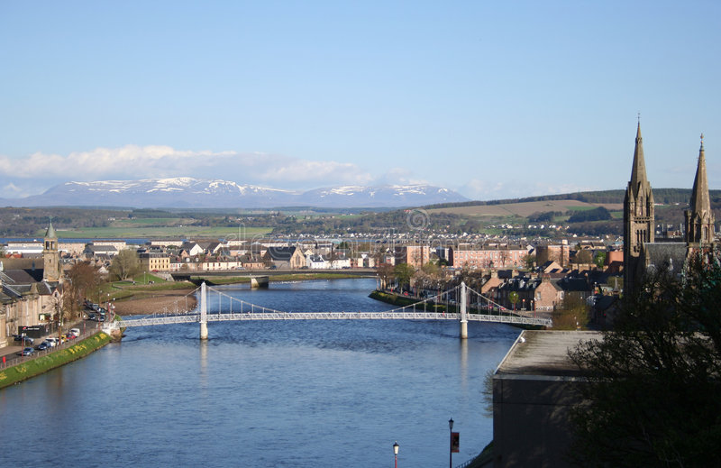Inverness au printemps images libres de droits