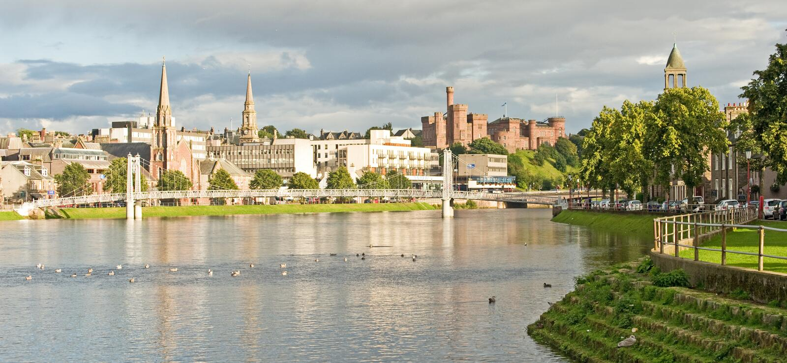 Inverness in the Autumn. royalty free stock photography