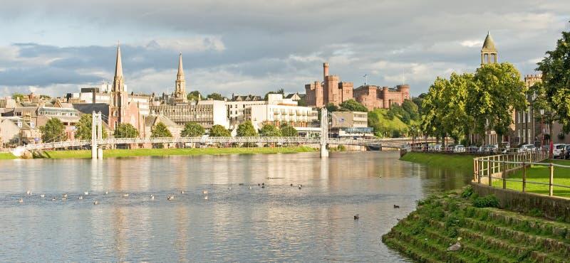 Inverness in autunno. fotografia stock libera da diritti