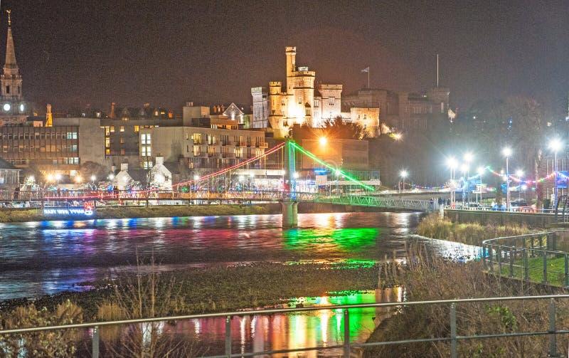 Inverness em Hogmonay 2020 imagem de stock royalty free