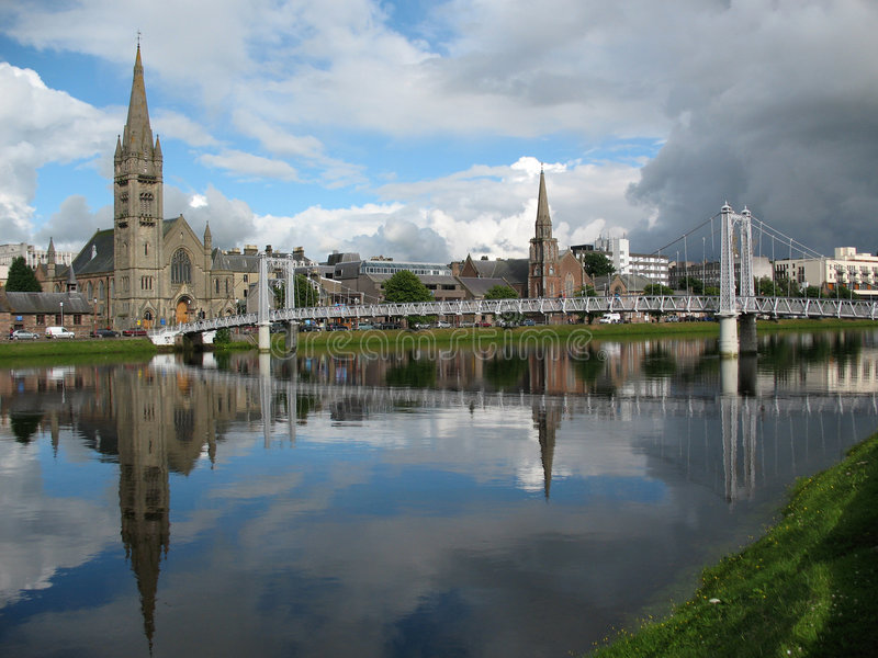 inverness ness rzeka Scotland fotografia royalty free
