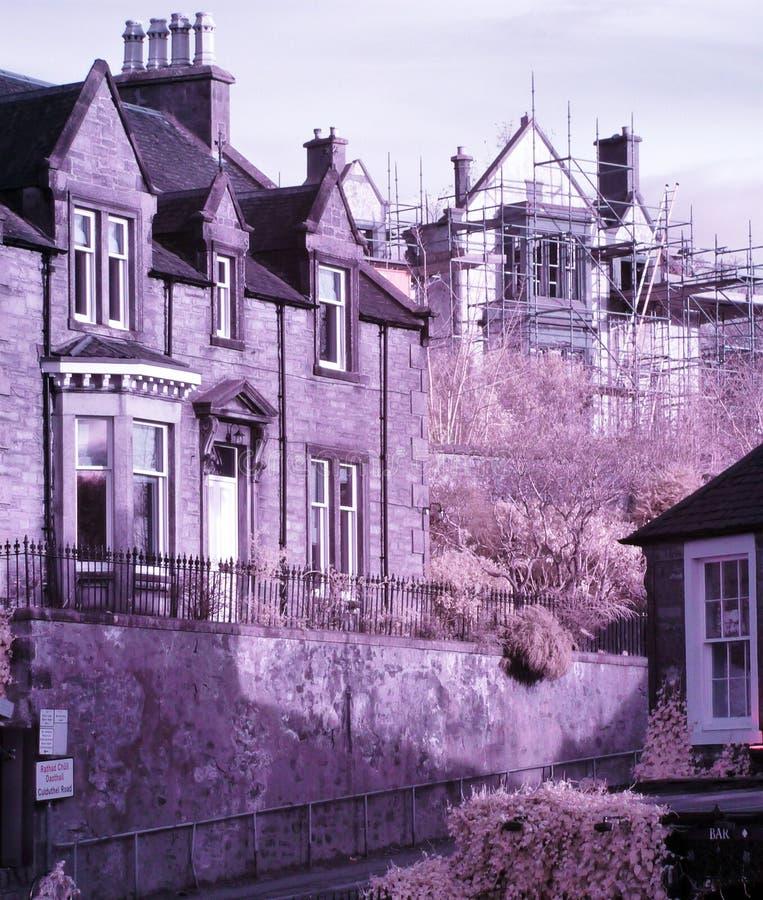 Inverness Scotland historic building stock photo