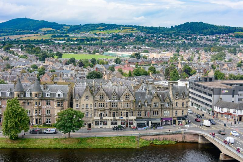 Inverness, Scotland, United Kingdom from above royalty free stock photo