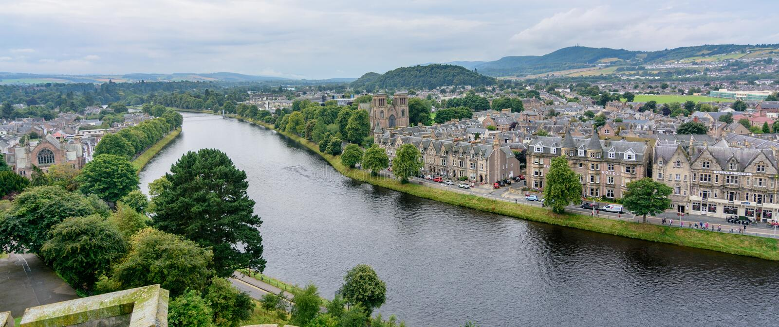 Inverness, Scotland, United Kingdom from above stock photos