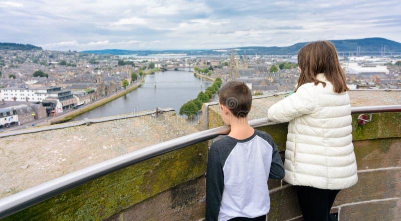 Inverness, Scozia, Regno Unito da sopra immagini stock