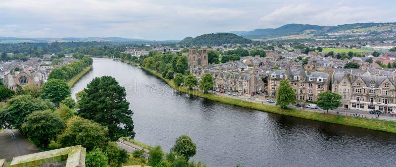 Inverness, Scozia, Regno Unito da sopra fotografie stock