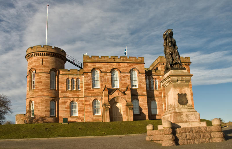 Inverness slott Skottland royaltyfria bilder